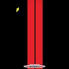 Mini Cooper Stripes JCW - Black & Red by mrmini