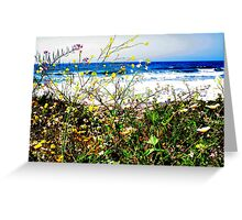 Flowers and the Ocean Greeting Card