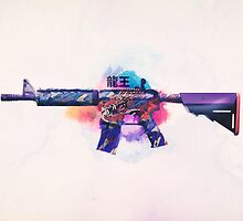 CS:GO M4A4 (Dragon King) by LexyLady