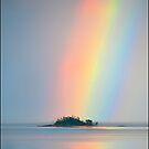 Rainbow off Mission Beach by Susan Kelly
