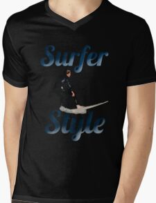 Surfer style Mens V-Neck T-Shirt