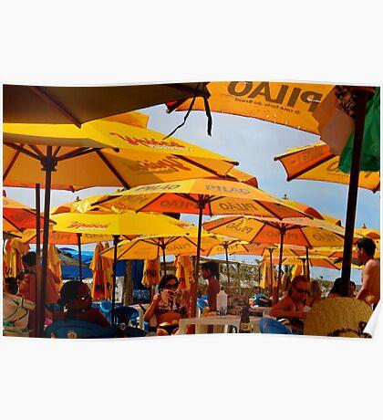 Orange Umbrellas in Brazil 2 Poster