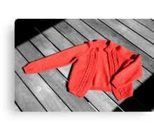 The Red Cardigan Canvas Print
