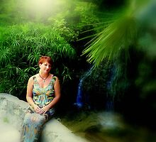 By the Waterfall by Charmiene Maxwell-batten