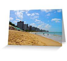 Beach in Brazil Greeting Card