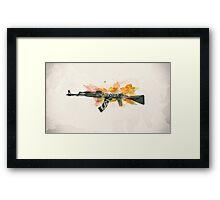 CS:GO AK-47 Wasteland Rebel Framed Print
