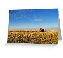 Evening Harvest Greeting Card