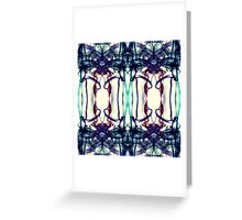 Colorful Abstract Smoke Pattern Greeting Card
