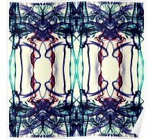 Colorful Abstract Smoke Pattern Poster