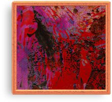 red grunge girl Canvas Print