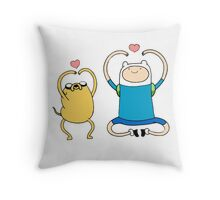 Heart Time Throw Pillow