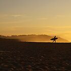 surfer in yellow I by geophotographic