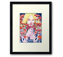 Keeper of the Scarlet Garden Framed Print