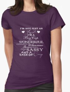 Not Just An Aunt- Purple Womens Fitted T-Shirt
