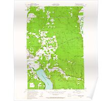 USGS Topo Map Washington State WA Redmond 243403 1950 24000 Poster