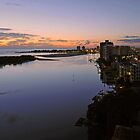 Dawn On The Maroochy River. Maroochydore, Qld, Australia. by Ralph de Zilva