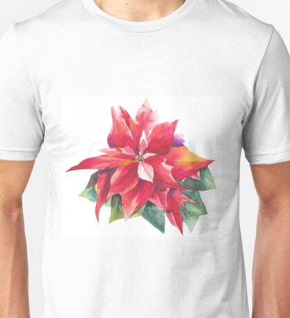 Bright Red Poinsettia T-Shirt