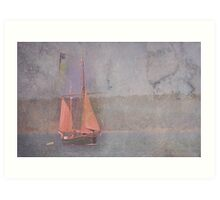 Sailing the Channel Art Print