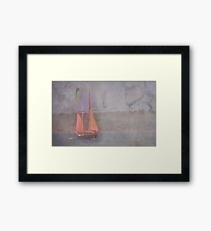 Sailing the Channel Framed Print