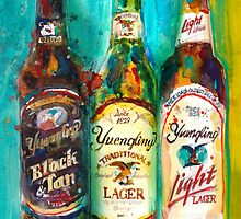 Yuengling Beer - Black and White, Lager and Light Beer by Dorrie  Rifkin