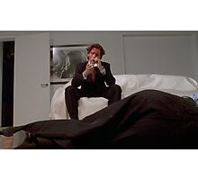 American Psycho - Christian Bale - Cigar Photographic Print