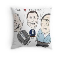 Big Three Car Boss caricature Throw Pillow