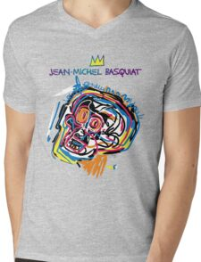 Jean Michel Basquiat Head Version 2 Mens V-Neck T-Shirt