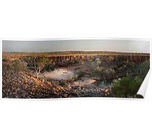 Bindoola Falls sunrise - The Kimberley, Western Australia Poster