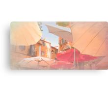 Sintra . an umbrella shade never blocks a sky view:) Canvas Print