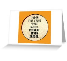 Miss-A-Go: Under Fire From Space Patrol Greeting Card