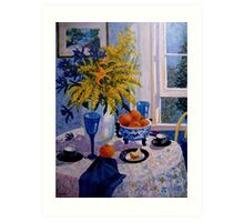Wattle and oranges  Art Print