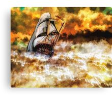 In The Midst of the Storm Fine Art Design Canvas Print