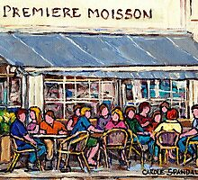 COFFEE AND PASTRIES AT PREMIERE MOISSON IN MONTREAL by Carole  Spandau