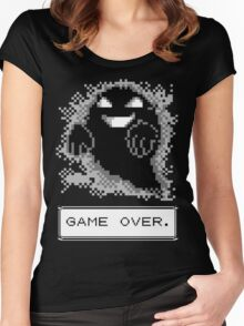 Ghost Used Curse! GAME OVER Women's Fitted Scoop T-Shirt