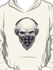 Skull in Headphones T-Shirt