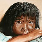 Inuit girl by Lynda Harris