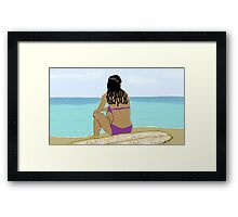 Self Portrait 1973- Surfer Chick  Framed Print