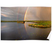 Double rainbow Poster