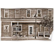 Windows and Doors of The Tavern-B&W sepia Poster