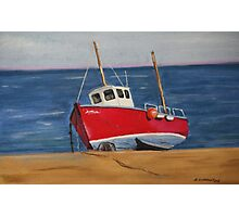 Little Fishing Boat Photographic Print