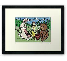 Teddy Bear and Bunny - Hidden Treasures Framed Print
