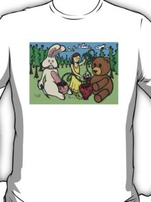 Teddy Bear and Bunny - Hidden Treasures T-Shirt