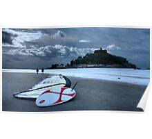 A Morning Walk at St Michaels Mount Poster