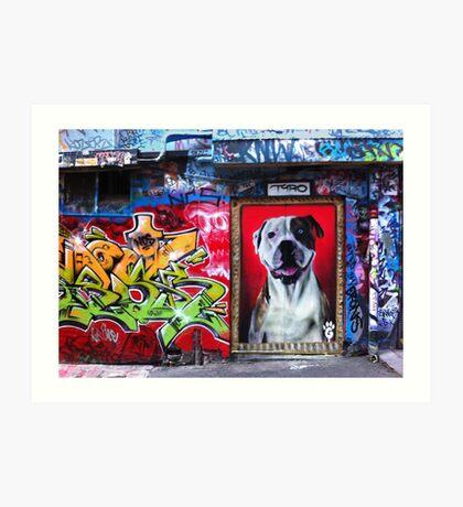 Graffiti Dog, Rutledge Lane Art Print