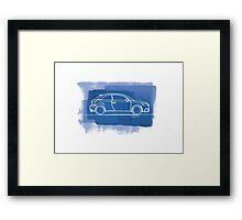 Audi S1 - Single Line Framed Print