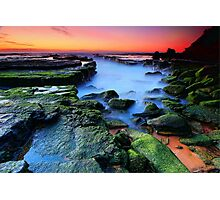 Mossy Rocks Photographic Print