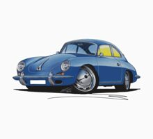 Porsche 356 C Blue by Richard Yeomans