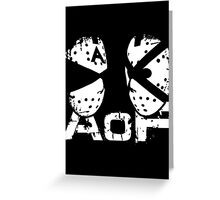Art Of Fighters Logo Greeting Card