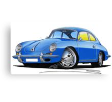Porsche 356 C Blue Canvas Print
