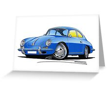 Porsche 356 C Blue Greeting Card